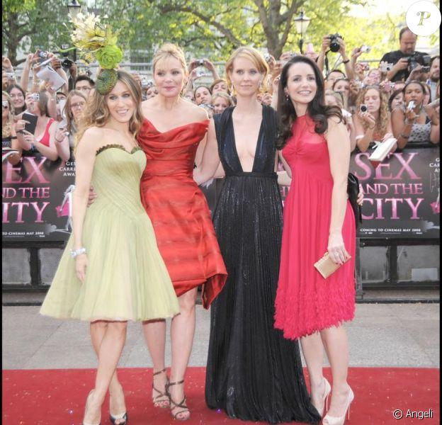 Sarah Jessica Parker, Kim Cattrall, Cynthia Nixon et Kristin Davis à la première de Sex and The City