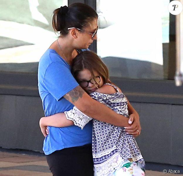 Talinda Ann Bentley, la veuve de Chester Bennington, le leader de Linkin Park dans les rues de Los Angeles, le 21 juillet 2017