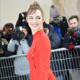 """Louise Bourgoin - Arrivées au défilé de mode """"Christian Dior"""", collection Haute-Couture printemps-été 2017 au Musée Rodin à Paris. Le 23 janvier 2017 © CVS - Veeren / Bestimage"""