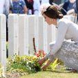 Kate Middleton, duchesse de Cambridge, à Ypres en Belgique le 31 juillet 2017 lors des commémorations du centenaire de la troisième bataille d'Ypres (Bataille de Passchendaele).