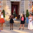 """Stéphanie taclée par ses concurrentes Laetitia, Gabrielle et Laetitia dans """"4 mariages pour 1 lune de miel"""" sur TF1 le 4 août 2017."""