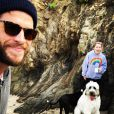 Liam Hemsworth et Miley Cyrus sur une photo publiée sur Instagram le 15 janvier 2017