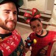 Liam Hemsworth et Miley Cyrus sur une photo publiée sur Instagram le 24 décembre 2016