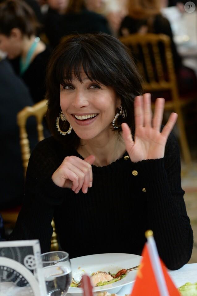 Exclusif - Sophie Marceau (Ambassadrice du Chinese Business Club) au déjeuner du Chinese Business Club pour la journée internationale des femmes autour de son ambassadrice Sophie Marceau à l'hôtel Intercontinental à Paris le 8 mars 2016.