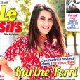 Karine Ferri en couverture du magazine Télé Loisirs, en kiosques lundi 14 août 2017.