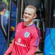 Wayne Rooney après l'entraînement de l'équipe d'angleterre à l'occasion de l'Euro de football en France à Chantilly le 25 juin 2016.
