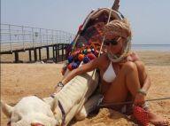 """Ophélie Winter : Sublime à la plage, elle prend du repos avec son nouvel """"ami"""""""