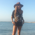 Photo de Cathy Guetta à Formentera. Août 2017.
