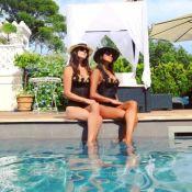 """Karine Ferri sublime en maillot de bain : Elle présente sa """"soeur jumelle"""""""