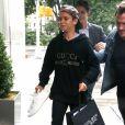 Victoria Beckham et son fils Romeo rentrent au New York EDITION à New York, le 29 août 2017.
