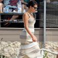 Cristiano Ronaldo en vacances avec sa compagne Georgina Rodriguez enceinte et son fils Cristiano Jr à Formentera, le 8 juillet 2018.