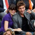 Nolwenn Leroy et Arnaud Clément aux internationaux de France de Roland Garros le 9 juin 2012.