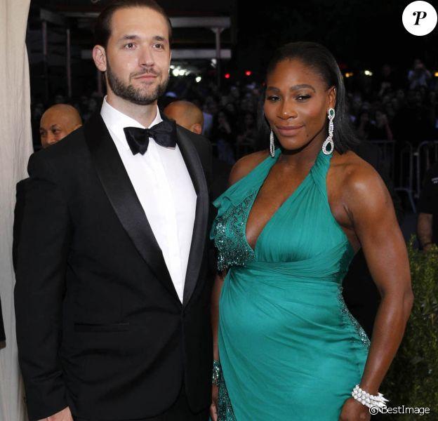 """Alexis Ohanian et sa fiancée Serena Williams enceinte - Les célébrités arrivent au MET 2017 Costume Institute Gala sur le thème de """"Rei Kawakubo/Comme des Garçons: Art Of The In-Between"""" à New York, le 1er mai 2017"""