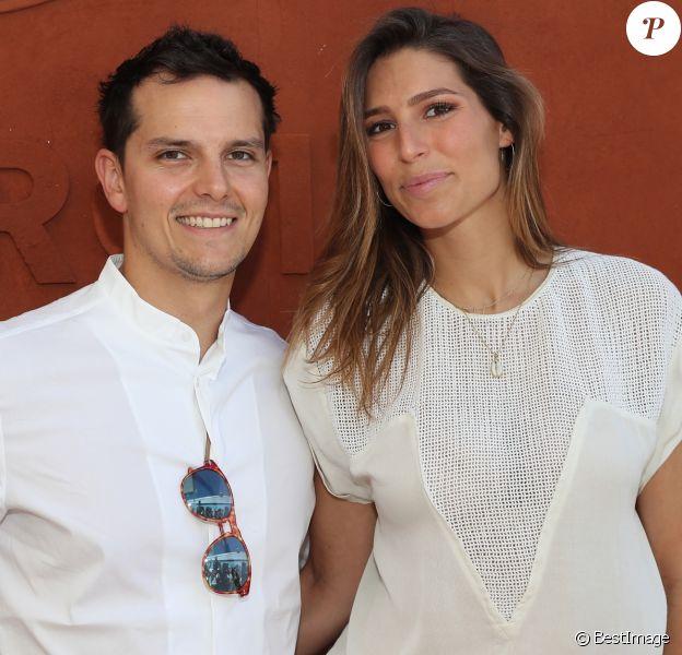 Laury Thilleman et son compagnon Juan Arbelaez au village lors des internationaux de France de Roland Garros à Paris, le 10 juin 2017. © Dominique Jacovides - Cyril Moreau/ Bestimage