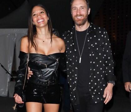 David Guetta in love de sa chérie Jessica Ledon, très décolletée à Vegas