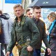 Exclusif - Boyd Holbrook sur le tournage de ''The Predator'' à Vancouver, le 24 avril 2017