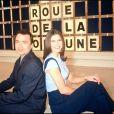 """Olivier Chiabodo et Frédérique Le Calvez à la tête de """"La Roue de la fortune"""", en décembre 1994."""