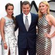 """Alicia Vikander, Matt Damon et Julia Stiles à la première de """"Jason Bourne"""" au cinéma Odeon Leicester à Londres le 11 juillet 2016. 11 July 2016."""