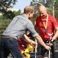 Le prince Harry à l'épreuve de cyclisme lors des InvictusGames 2017. Le 27 septembre 2017