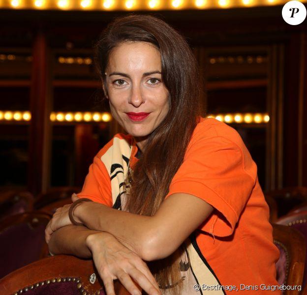 Audrey Dana lors de la conférence de presse de rentrée des Théâtres Privés au Théâtre des Folies Bergères à Paris le 13 Septembre 2017. © Denis Guignebourg / Bestimage