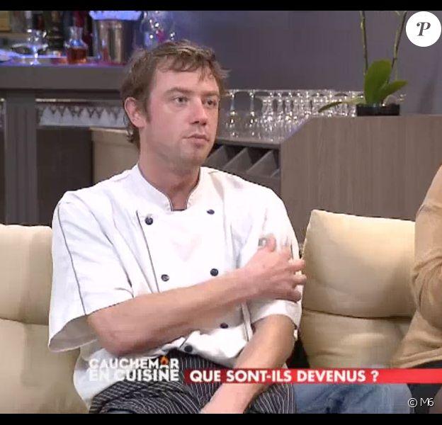 """Vincent dans """"Cauchemar en cuisine, que sont-ils devenue ?"""". Sur M6, le 26 septembre 2017."""