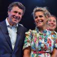 Christian Estrosi, le maire de Nice, et sa femme, Laura Tenoudji durant le traditionnel Lou Festin Nissart autour de Christian Estrosi organisé à Nice par l'association des Amis du Maire sur la Coulée Verte privatisée pour l'événement le 1er septembre 2017.