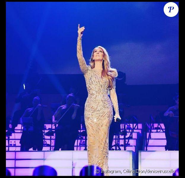 Céline Dion sur scène à Las Vegas. Septembre 2017