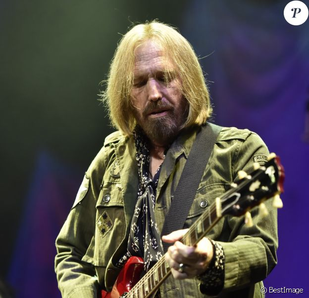 Tom Petty et son groupe Heartbreakers en concert à Chicago. Le 23 août 2014