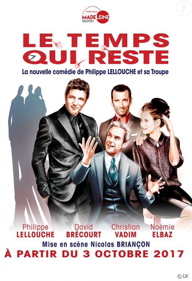 Affiche de la pièce Le Temps qui reste, au théâtre de la Madeleine depuis le 3 octobre 2017