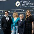 """Karl Spoerri, Roman Polanski et sa femme Emmanuelle Seigner, Nadja Schildknecht- Avant-première du film """"D'après une histoire vraie"""" lors du festival du film de Zurich, le 2 octobre 2017."""