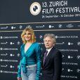 """Roman Polanski et sa femme Emmanuelle Seigner- Avant-première du film """"D'après une histoire vraie"""" lors du festival du film de Zurich, le 2 octobre 2017."""