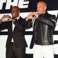 Tyrese Gibson, Vin Diesel à la première du film 'Fate Of The Furious' à New York, le 8 avril 2017