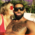 Photo de Khloé Kardashian et Tristan Thompson. Août 2017.