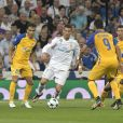 "Cristiano Ronaldo lors du match de Champions League ""Real Madrid - Apoel Nicosie (3-0)"" au Stade Santiago Bernabeu à Madrid, le 13 septembre 2017."