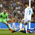 Cristiano Ronaldo lors du match Real Madrid - Espanyol Barcelone à Madrid. Le 1er octobre 2017.