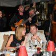 """Semi-Exclusif - Clovis Cornillac avec sa femme Lilou Fogli lors de la soirée d'inauguration de la """"Suite Michèle Morgan"""" de l' Hôtel   Barrière le Majestic Cannes , le 7 octobre 2017. © Guirec Coadic/Bestimage"""