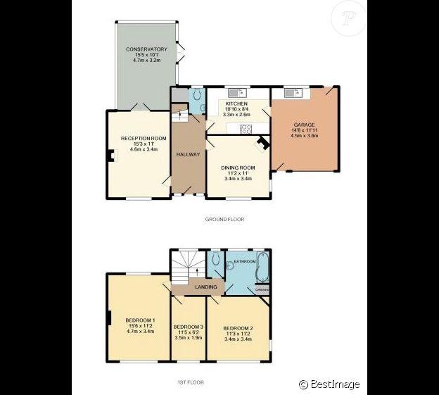 Exclusif - Plan de la maison d'Isabella Cruise et de son mari Max Parker à Croydon, en Angleterre (estimée à 593 000 dollars). Le 4 octobre 2017