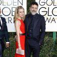 Jeffrey Dean Morgan et sa femme Hilarie Burton - La 74ème cérémonie annuelle des Golden Globe Awards à Beverly Hills, le 8 janvier 2017. © Olivier Borde/Bestimage