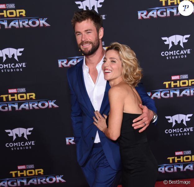 Chris Hemsworth et sa femme Elsa Pataky à la première de 'Thor: Ragnarok' à Hollywood, le 10 octobre 2017 © Chris Delmas/Bestimage