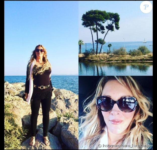 Loana amincie à la plage, 15 octobre 017, Instagram