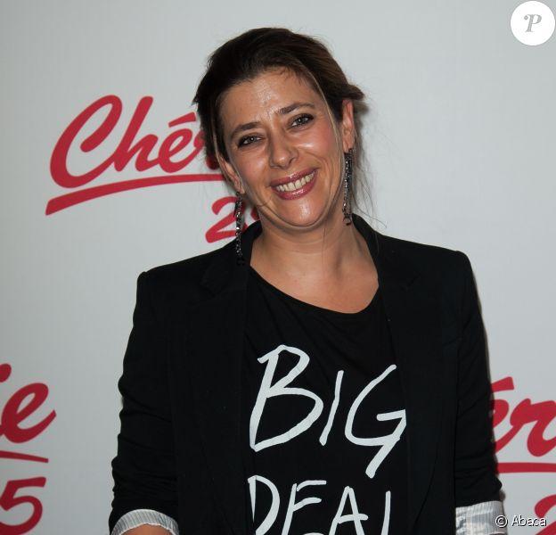 Giulia Foïs lors de la conférence de presse de Chérie 25 le 13 novembre 2012