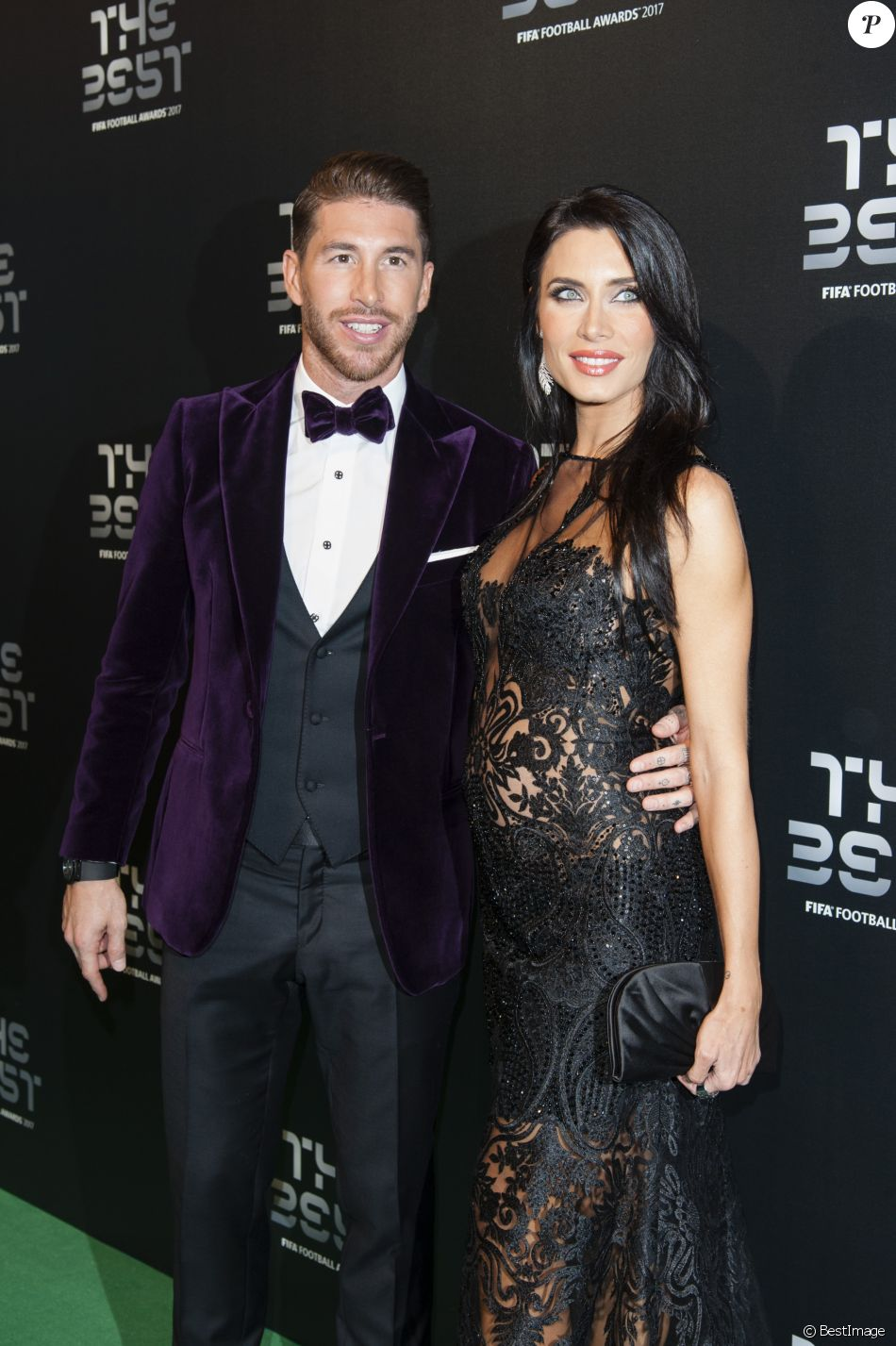 Sergio Ramos et sa compagne Pilar Rubio enceinte , The Best FIFA Football  Awards 2017 au