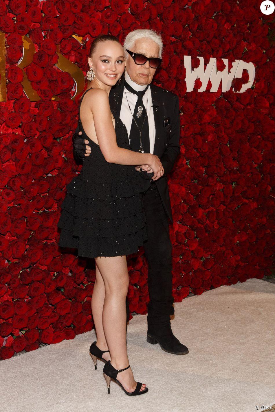 Lily-Rose Depp et Karl Lagerfeld - 2e édition des WWD Honors par Women s  Wear a3965bf989f2