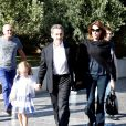 Nicolas Sarkozy, sa femme Carla Bruni et leur fille Giulia arrivent au musée de l'Acropole à Athènes. Le 24 octobre 2017  Nicolas Sarkozy and wife Carla Bruni get a warm welcome as they visit the Akropolis Museum with their daughter Giulia during their visit to Greece.24/10/2017 - Athènes