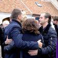 La famille et les proches - Obsèques de Danielle Darrieux en l'église Saint-Jean Baptiste de Bois-le-Roi (Eure) le 25 octobre 2017.