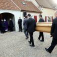 Obsèques de Danielle Darrieux en l'église Saint-Jean Baptiste de Bois-le-Roi (Eure) le 25 octobre 2017.