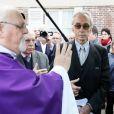 Jacques Jenvrin, le compagnon de Danielle Darrieux - Obsèques de Danielle Darrieux en l'église Saint-Jean Baptiste de Bois-le-Roi (Eure) le 25 octobre 2017.
