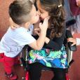 Maëlla, la fille d'Emilie Nef Naf s'est blessée. Octobre 2017.