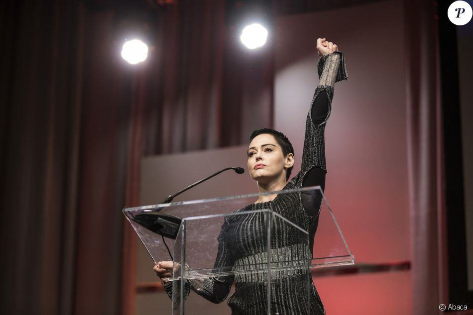 Rose McGowan lors de la Women's Convention au Cobo Center à Detroit, le 27 octobre 2017