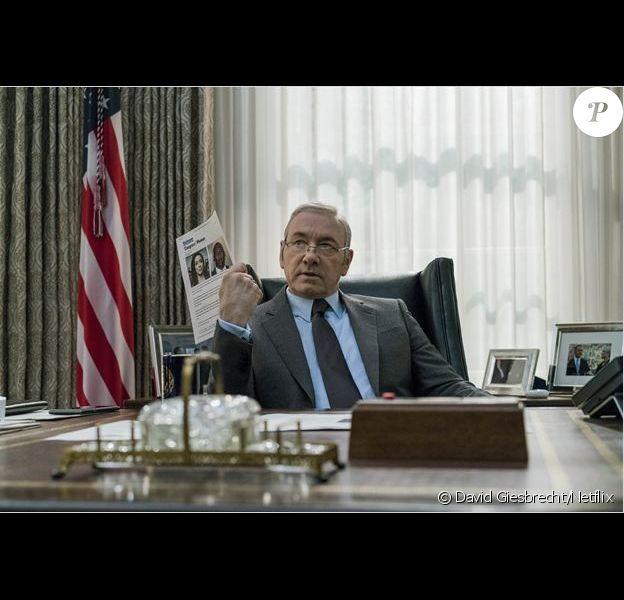 Kevin Spacey dans la saison 5 de House of Cards, 2017.